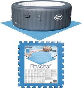 Zwembadbodembeschermers 8 st blauw 58220