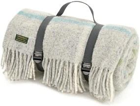Picknickkleed wol: grijs, ruiten