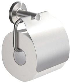 Brush toiletrolhouder met klep RVS 304