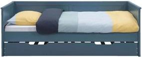 Bedbank Thomas (incl. bedlade) - blauw - 90x200 cm - Leen Bakker