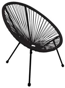 Kinderstoel Hawaii - zwart - 60x60x61 cm