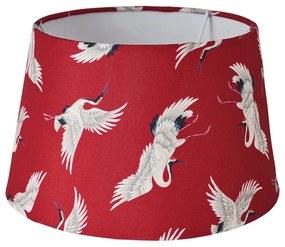 Lampenkap kraanvogel - rood - 18x23x14 cm