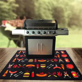 BBQ mat voor onder barbecue - Chef - 100x120 cm