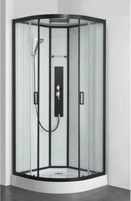 Douchecabine Allibert Uyuni Kwartrond 90x90x225cm Helder Glas Antikalk Mengkraan Hoofddouche en Handdouche