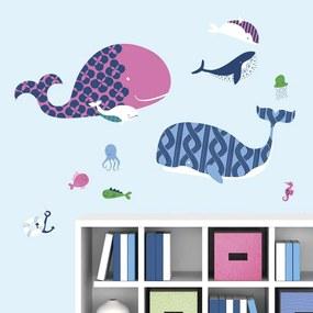 RoomMates muursticker Sea Whale - Leen Bakker