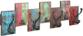 Kapstok met 7 haken massief gerecycled hout