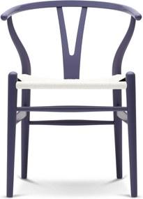 Carl Hansen & Son CH24 Wishbone Stoel Colours White Purple Blue