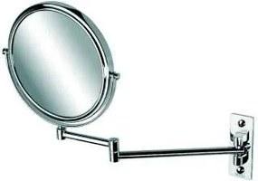 Mirror make-up spiegel met 2 armen en 3x vergrotend 20 cm, chroom