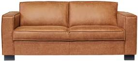 2-zits bank Shuffle | lederlook Missouri cognac 03 | 1,65 mtr breed