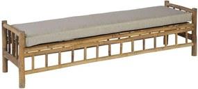 Exotan bamboe bank (incl. kussen) - bruin/beige - Leen Bakker