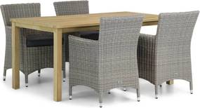 Garden Collections Dublin/Weston 160 cm dining tuinset 5-delig