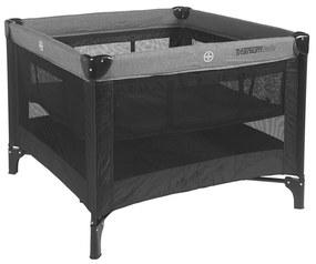 Reisbed / Box Titanium Baby Black 100x100cm