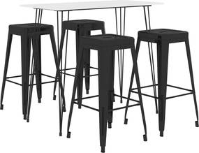 5-delige Barset wit en zwart