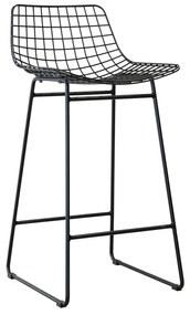 HKliving Metal Wire Metaaldraad Barkruk Zwart