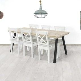 Steigerhouten tafel Froid met subtiele poten