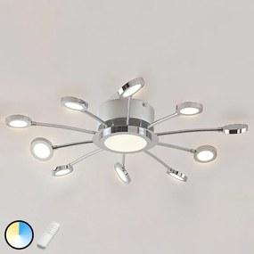 Verchroomde led plafondlamp Meru, lichtkleur var. - lampen-24