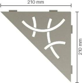 Schluter Shelf Planchet Curve 21x21cm steen grijs ses1d6tssg