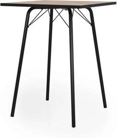 Tenzo bartafel Flow - eiken/zwart - 105x80x80 cm - Leen Bakker