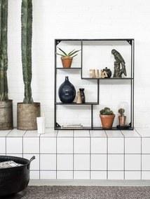 Bodilson | Wandrek Hero lengte 77 cm x diepte 20 cm x hoogte 89 cm zwart wandrekken metaal opbergen decoratie | NADUVI outlet