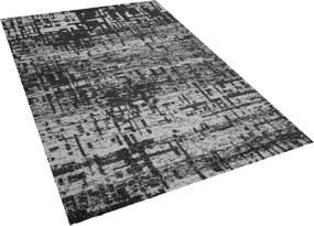 Tapijt zwart-wit 140x200 cm kortpolig DAFNI