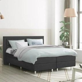 DreamHouse Bedding Boxspringset Detroit 140 x 200, Kleur: Antraciet, Montage: Excl. montage
