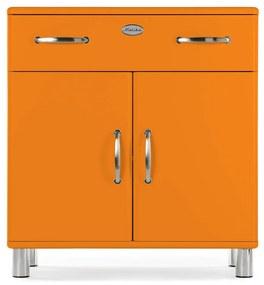Tenzo Malibu Houten Dressoir Oranje - 86x41x92cm.