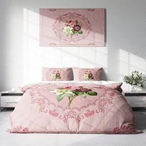 DLC Pink Flowers 1-persoons (140 x 200/220 cm + 1 kussensloop) Dekbedovertrek