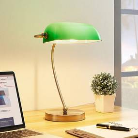 Selea - bankierslamp met groene kap - lampen-24