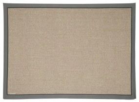 Rivièra Maison - Edgartown Rug 290x200, natural/light grey border - Kleur: grijs