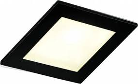 Lecco inbouw LED spot 90x90 mm vierkant zwart