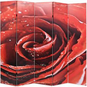 Kamerscherm inklapbaar roos 200x170 cm rood