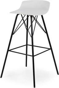 Tenzo barkruk Tori - wit/zwart (2 stuks) - Leen Bakker