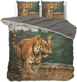 Dreamhouse - Nature Tiger Dekbedovertrek 100% Katoen - Taupe - 140 x 220