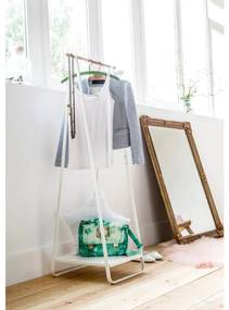 Compactor Nora kledingrek met legplank - wit