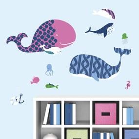 Muursticker : Sea Whale