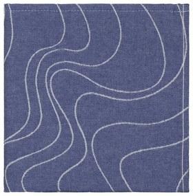 Theedoek - 65 X 65 - Katoen - Blauw Golven
