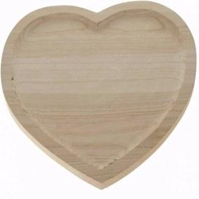 Houten hart plateau 30 x 24 cm