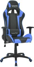 Bureau-/gamestoel verstelbaar Xtreme kunstleer blauw