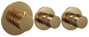 Inbouw Douchekraan Brauer Gold Edition Thermostatisch met 2 Stopkranen Geborsteld Goud