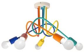 Plafondverlichting voor kinderen OXFORD 5xE27/60W/230V