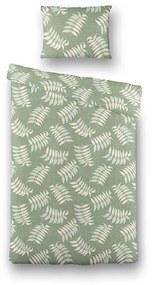 Fresh & Co Green Plants 1-persoons (140 x 220 cm + 1 kussensloop) Dekbedovertrek