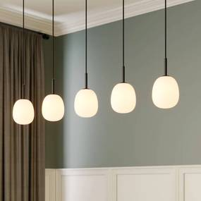Etiena hanglamp, 5-lamps, glas opaal - lampen-24