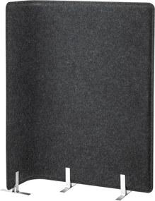 BEKANT Scherm voor bureau 120 cm grijs