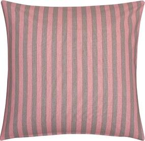 Fresh & Co Sierkussenhoes Graphic Stripe - Zacht Roze