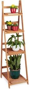 Plantenrek trapvormig hout - plantentrap - plantenstandaard - binnen