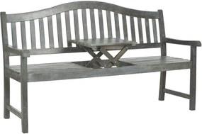 Safavieh Furniture   Tuinbank Francis lengte 164 cm x breedte 61 cm x hoogte 95,00 cm as grijs tuinbanken acaciahout outdoor   NADUVI outlet