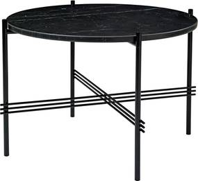 Gubi TS Table Bijzettafel Zwart Onderstel Zwart Marmer 55