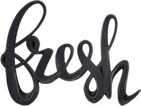 Deco letters Fresh - zwart -15x20 cm - Leen Bakker