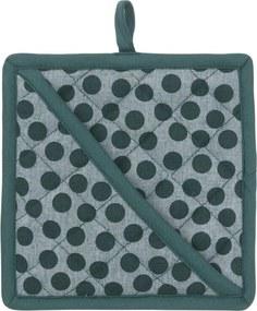Pannenlap - Katoen - Groen Stip (groen)