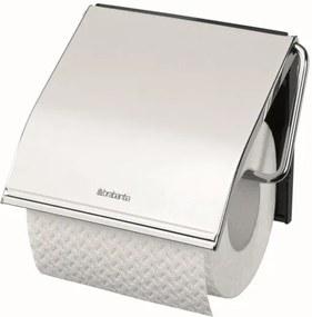 Brabantia classic toiletrolhouder met klep classic brilliant steel 414589